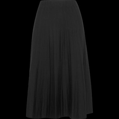 Knit Tea Length Skirt-Skirts-Worth New York-Midnight-XS-Worth Collection