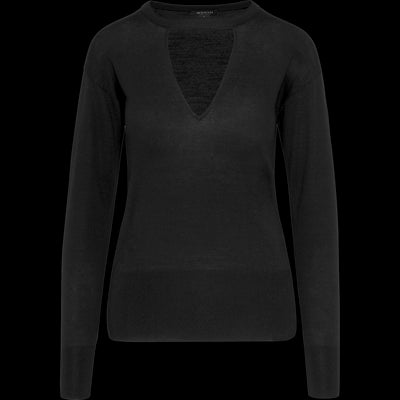 Triangle Cutout Jewel Neck Pullover-Sweaters-Worth New York-Midnight-XS-Worth Collection