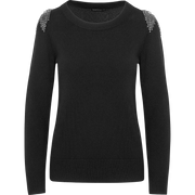 Worth New York Stone Crystal Embellished Shoulder Pullover ${description} $498.00 Available in: Color Midnight Size XS