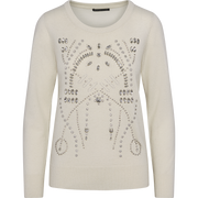 Stone Crystal Embellished Pullover-Sweaters-Worth New York-Ivory-XS-Worth Collection