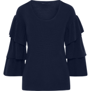 Sapphire XS Ruffle Sleeve Pullover Sweaters Worth New York Worth Collection