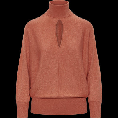 Sparkle Batwing Turtleneck Pullover-Sweaters-Worth New York-Pumpkin Spice-XS-Worth Collection