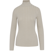 Ivory XS Sparkle Rib Turtleneck Pullover Sweaters Worth New York Worth Collection