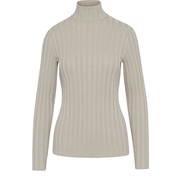 Sparkle Rib Turtleneck Pullover-Sweaters-Worth New York-Ivory-XS-Worth Collection