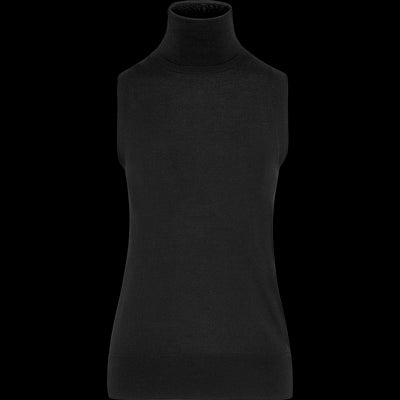 Turtleneck Sleeveless Pullover-Sweaters-Worth New York-Midnight-XS-Worth Collection