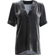 XS Concrete Sonny Top Blouses & Shirts Worth New York Worth Collection