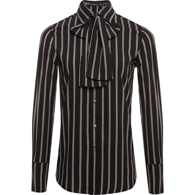00 Midnight Stripes Marina Blouses & Shirts Worth New York Worth Collection