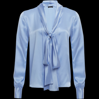 XS Pearl Blue Sanne Blouses & Shirts Worth New York Worth Collection