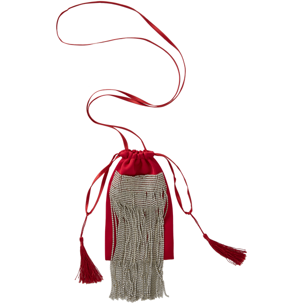 Worth New York Fringe Mini Tote ${description} $179.00 Available in: Size NO Color Deep Red