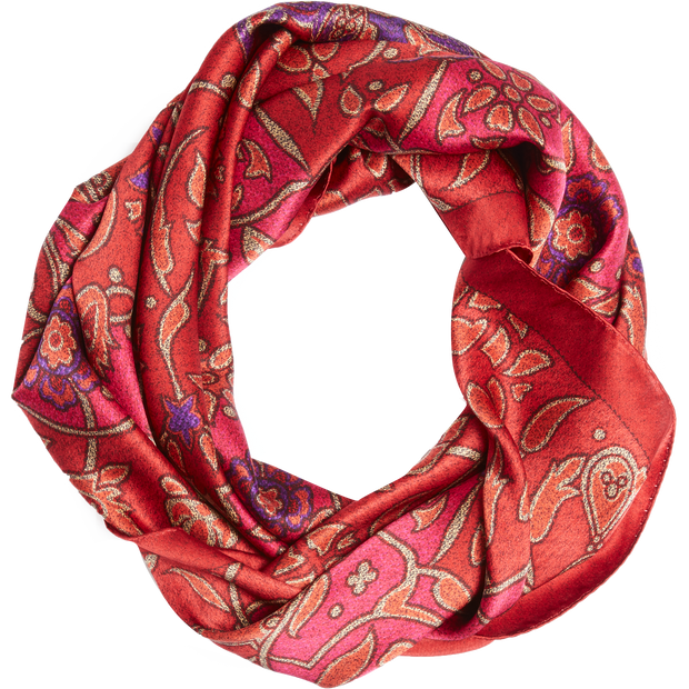 Worth New York Red Jewel Tone Scroll Square Scarf ${description} $258.00 Available in: Size NO Color Red Jewel Tone