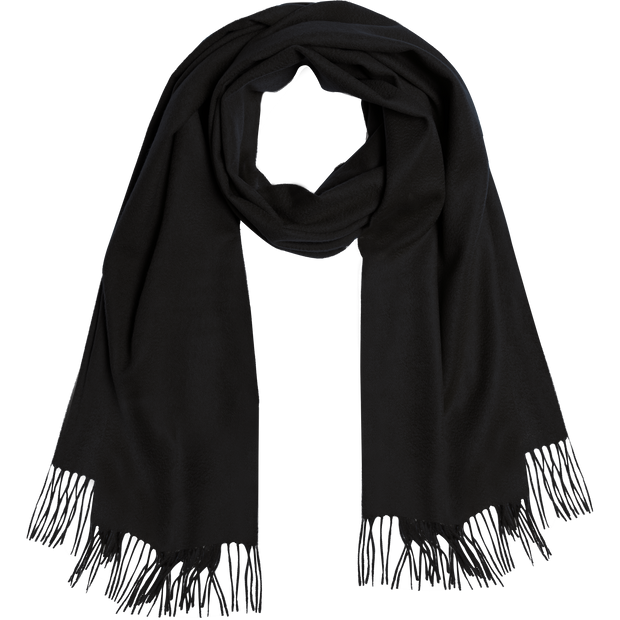 Cashmere Wool Fringe Scarf-Accessories-Worth New York-NO-Midnight-Worth Collection