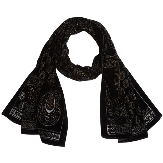 Burnout Scarf-Accessories-Worth New York-NO-Midnight-Worth Collection