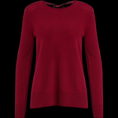 Candy Apple XS Wool Cashmere V Back Tie Pullover Sweaters Worth New York Worth Collection
