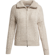 Worth New York Cable Zip Cardigan ${description} $498.00 Available in: Size LG Color Light Heather Camel