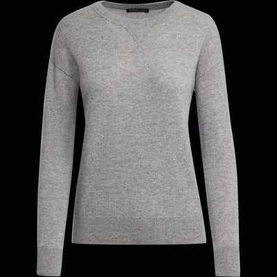 XS Heather Grey Cashmere Pullover Sweaters Worth New York Worth Collection