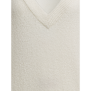 XS Linen V Neck Easy Pullover Sweaters Worth New York Worth Collection