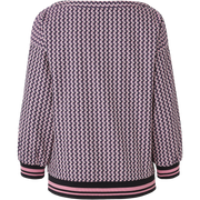back of Navy Lavender Ruth Blouse Worth New York Worth Collection