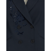 detail of Navy Emily Jacket Worth New York Worth Collection