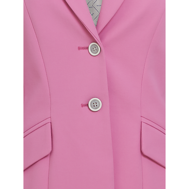 detail of Peony Pink Linda Jacket Worth New York Worth Collection