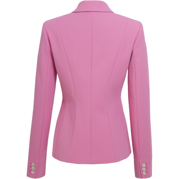back of Peony Pink Linda Jacket Worth New York Worth Collection