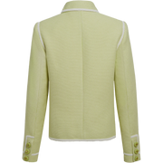 back of Key Lime White Mila Jacket Worth New York Worth Collection