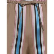 detail of Camel Peony Pink Blue Santa Barbara Pant Worth New York Worth Collection
