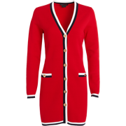 Cherry Red Marine Navy White Grayson Cardigan Worth New York Worth Collection