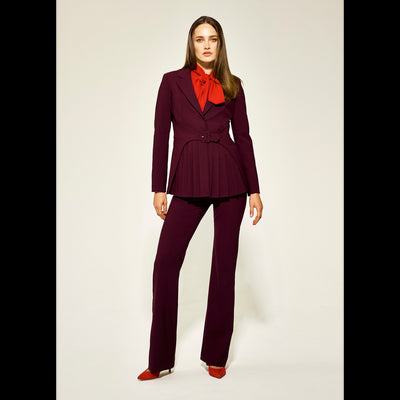 00 Burgundy Penny Jacket Jackets Worth New York Worth Collection