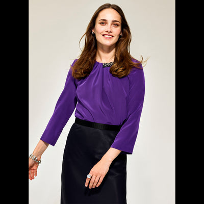 XS Grape Louise Blouses & Shirts Worth New York Worth Collection