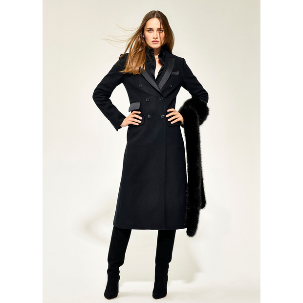 00 Midnight Donna Coats Worth New York Worth Collection