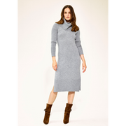 XS Heather Grey Bell Sleeve Knit Dress Dresses Worth New York Worth Collection