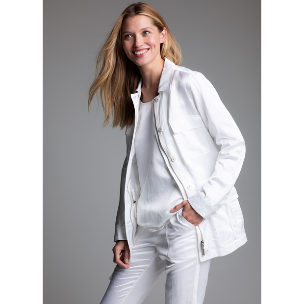 White Hamilton Tunic Worth New York Worth Collection on model