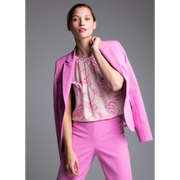 Peony Pink Linda Jacket Worth New York Worth Collection on model