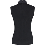 Black stretch-cotton-sleeveless-top