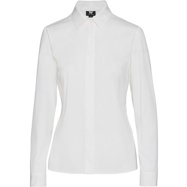 White stretch-cotton-button-up-shirt