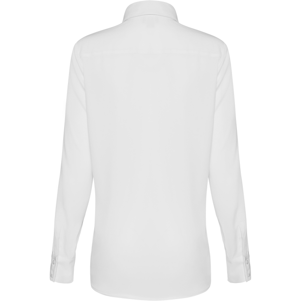 White classic-pocket-front-blouse