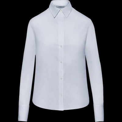 Stretch Cotton Catherine Blouse-Blouses & Shirts-Classics by Worth-Linen-00-Worth Collection