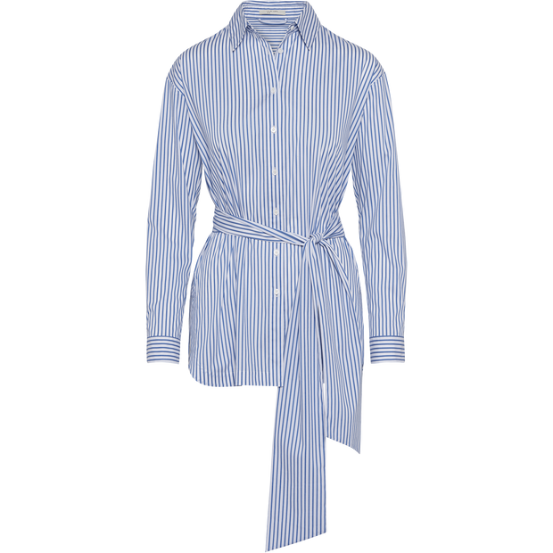 Classics by Worth Brit Blouse ${description} $149.00 Available in: Color White Blue Stripes Size XS