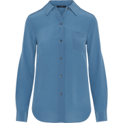 Classics by Worth Silk Crepe de Chine Alexis Blouse ${description} $149.00 Available in: Color Electric Blue Size MD