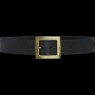 Black Leather Aiden Belt
