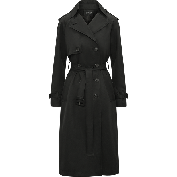 Midnight XS Camilla Trench Coat Coats Classics by Worth Worth Collection