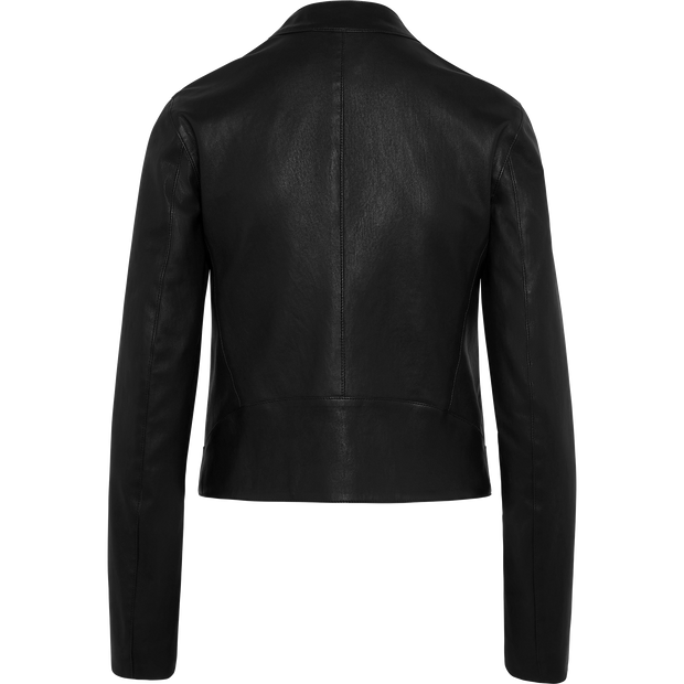 Stretch Leather Sophia Jacket-Jackets-Classics by Worth-Midnight-00-Worth Collection