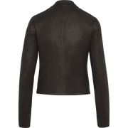 Midnight 00 Stretch Leather Sophia Jacket Jackets Classics by Worth Worth Collection