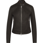 Stretch Leather Sophia Jacket-Jackets-Classics by Worth-Camel-00-Worth Collection