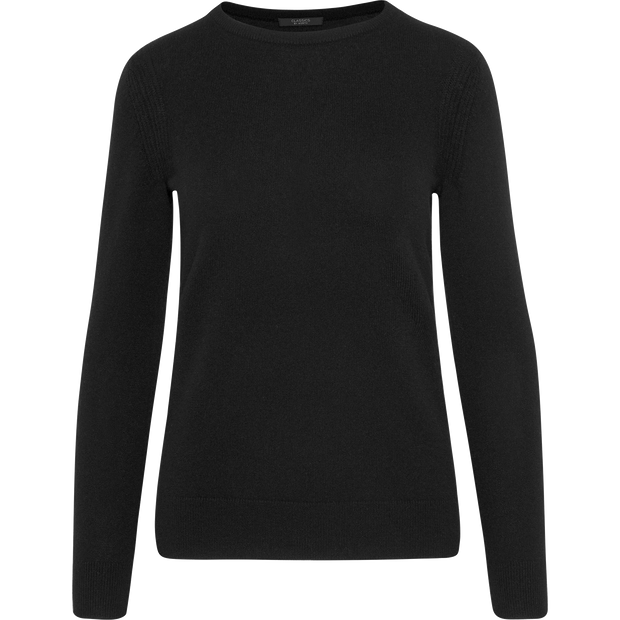 Midnight XS Cashmere Jewel Neck Pullover Sweaters Classics by Worth Worth Collection