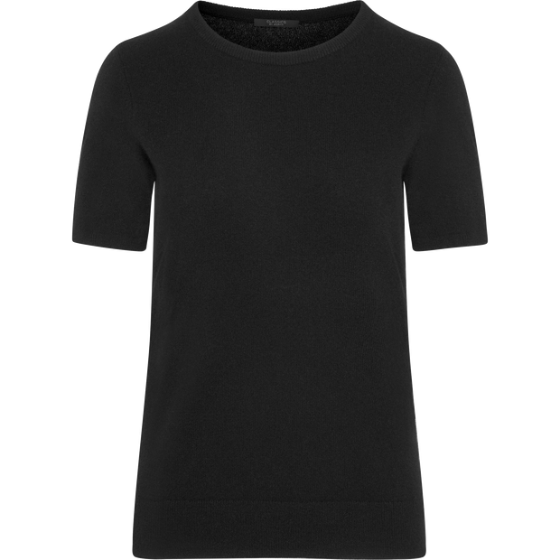 Midnight XS Cashmere Short Sleeve Pullover Sweaters Classics by Worth Worth Collection