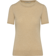 Camel XS Cashmere Short Sleeve Pullover Sweaters Classics by Worth Worth Collection