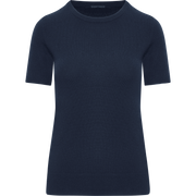 Sapphire XS Cashmere Short Sleeve Pullover Sweaters Classics by Worth Worth Collection