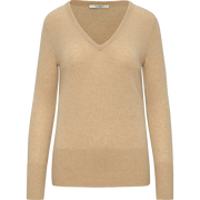 Classics by Worth Cashmere V Neck Pullover ${description} $398.00 Available in: Color Heather Camel Size XS