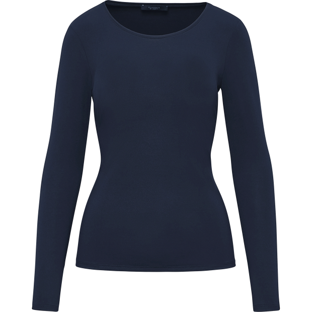 Sapphire XS Tina Second Skin Tee Blouses & Shirts Classics by Worth Worth Collection
